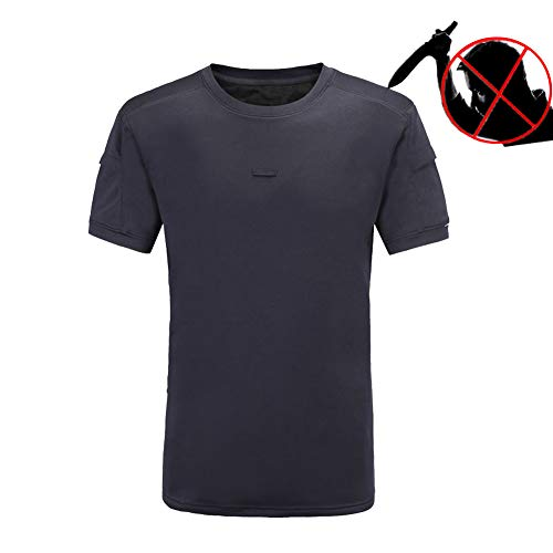 QCHENG Mens Quick Dry Lightweight Breathable Outdoor Military Tactical T-Shirt Camo with Zip Pocket Polos Summer