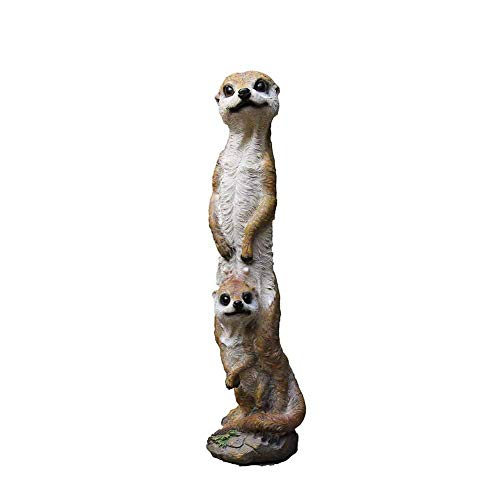 IUYJVR Decoraciones de suricatas, estatuas de Animales de jardín Decoraciones de jardín Decoraciones para el hogar Accesorios para Exteriores Novedades de paisajismo