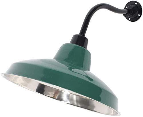 Lámpara De Pared Simple Y Fresca Estilo minimalista Iluminación de pared de metal Vintage Luz de pared Industrial Retro E27 Lámpara de pared interior exterior Negro Verde de acero inoxidable Sombra im