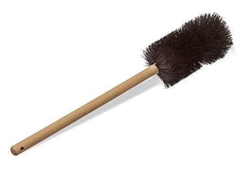 Justman Brush 4117 Beaker Brush, Black Nylon, Heavy Double Tufted End, Wood Handle, 3