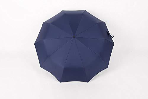 WENSISTAR Dubbele Oversize Extra Grote Winddichte Zon Regen Paraplu's, Volledig automatische opvouwbare paraplu, anti-UV parasol, vinyl business paraplu, Winddicht Grote Omgekeerde Umbr