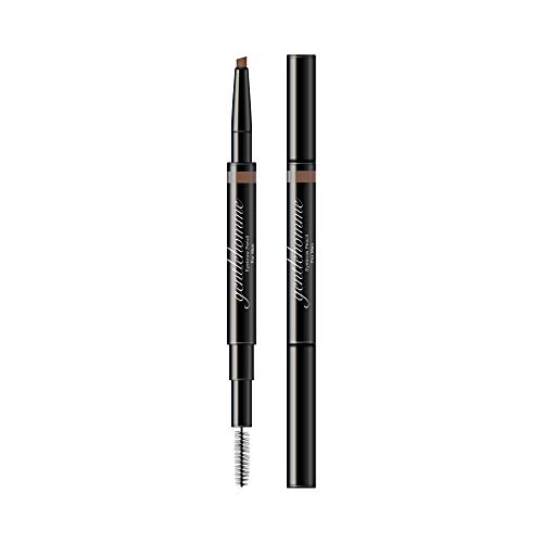 Gentlehomme Mens Eyebrow Pencil Light Brown, Easily Shape Define Fill Eyebrows or Facial Hair, 2 in 1 brush and ultra-thin pencil, Waterproof Smudge Proof Sweatproof, Durable and Long Lasting