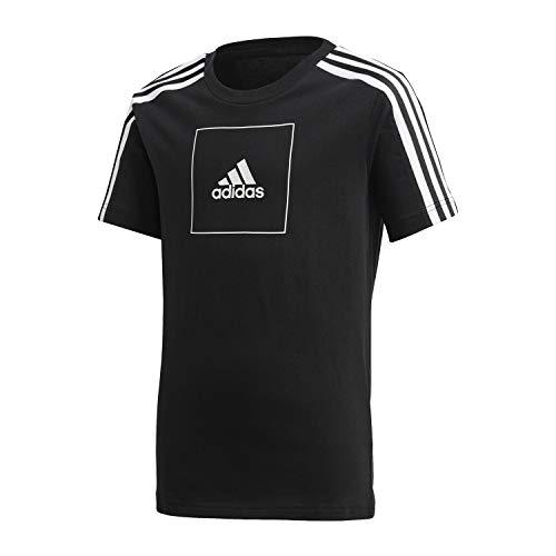 adidas JB A AAC Tee, T-Shirt Bambino, Black/Black/White, 7-8Y