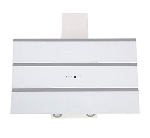 Dunstabzugshaube Wandhaube F.BAYER CASA 80W 80cm Weiß Edelstahl Dunstabzug 850m³/h EEK A LED