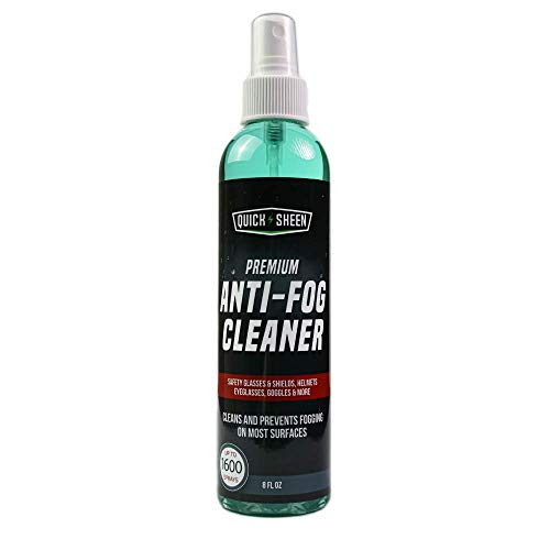 Quick Sheen Anti-Fog Spray   Prevents Fogging of Glass or Plastic Windows, Medical Face Shields, Non Coated Glasses, Mirrors, Scopes, Swim Goggles, Ski Masks, Binoculars   Safe on Lexan