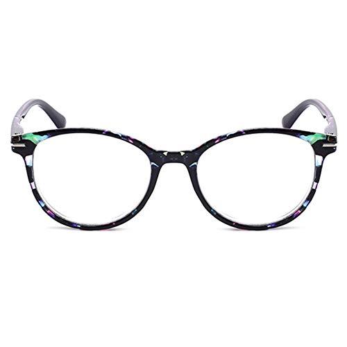 Embryform: Hombre/Mujer Gafas de Lectura Vista con Lentes Graduadas para Leer + 2,5 Dioptrías – Redondas, Montura Completa de Policarbonato – Ligeras de Bolsillo o para Trabajo