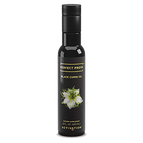 Activation Products, Perfect Press Black Cumin Seed Oil – Vegan, Organic and Gluten Free Pure Nigella Sativa - Digestive Support, Immune System Booster, Loaded with Vitamins B1 B2 B3, 250ml