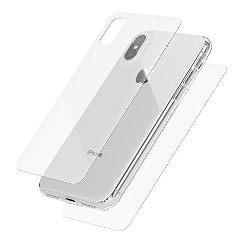 MOBO Hero Glass Vidrio Protector para iPhone X y iPhone XS Protector Frontal y Trasero Transparente Dureza 9H