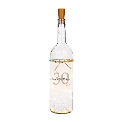 Manufaktur Liebevoll Flaschenlicht Happy Birthday 30