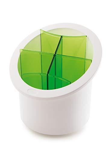 Snips, Bianco e Verde Scolaposate con Separatori estaribili, Forma cilindrica