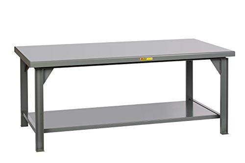 """Little Giant WX-4284-34 Welded Steel Workbench, 1 Lower Shelf, 15,000 lb. Load Capacity, 34"""" x 84"""" x 42"""", Gray"""