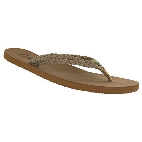 Cobian Women's Leucadia Natural Flip Flops, 10