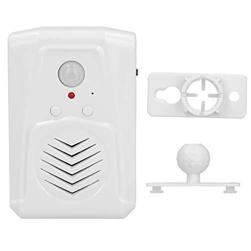 Ladieshow Timbre de Entrada Sensor de Movimiento infrarrojo Bienvenido Timbre de Alarma de Aviso de Voz grabable para Tienda