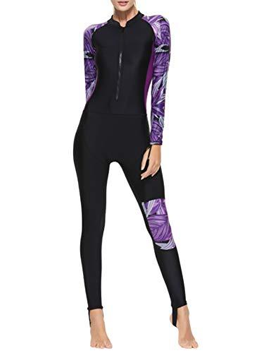 besbomig Traje de Buceo Mujer Full Body Traje de baño Manga Larga - Playa Quick Drying Trajes de Surf Snorkeling Buceo, No es la Neopreno