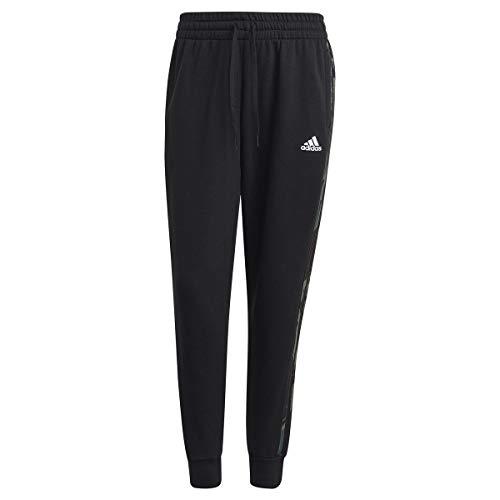 adidas Essentials, Pantaloni della Tuta Donna, Nero Bianco, M