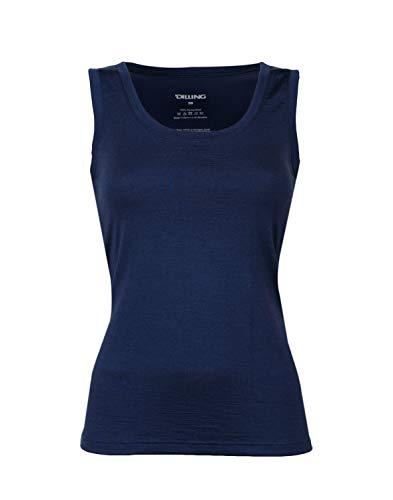 DILLING Thermo Unterhemd für Damen - aus 100% Merinowolle Dunkelblau 40