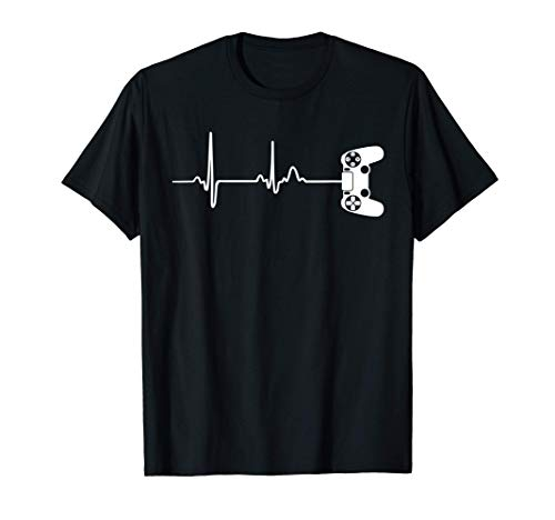 Gamer Heartbeat T-Shirt For Video Game Players T-Shirt