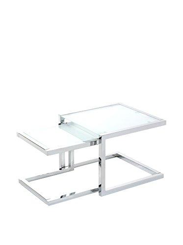 Tomasucci Double Beistelltisch, Glas, Transparent