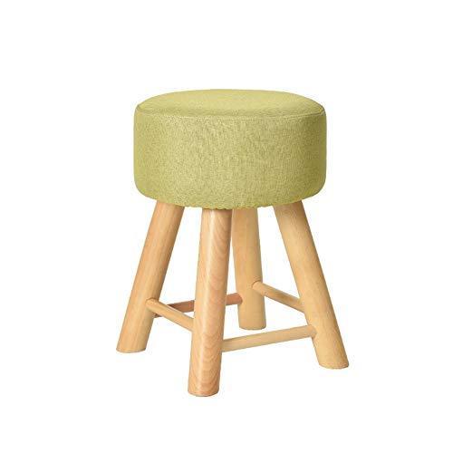 WOLF ES vierkante voetenbank met 4 ronde poten, lange poten, linnen stof