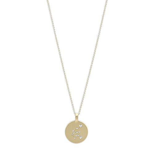 Pilgrim Jewelry Halskette mit Sternzeichen und Kristall (Vergoldet - Wassermann Sternzeichen)