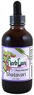 Shatavari Tincture (Asparagus Racemosus) - Supports Improved Breast Milk Production for Breastfeeding Moms and Overall Reproductive Health in Men and Women - 4 Ounce Non-Alcohol - Herb Lore