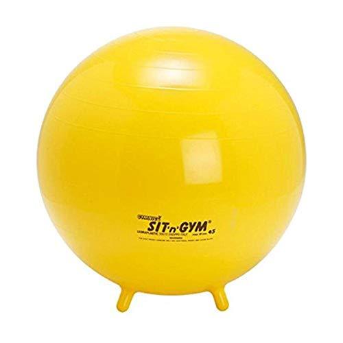 MamboMax - 4008945 - Balle Siège avec Petits Pieds Sit'n Gym Jaune 45 cm