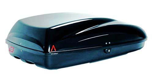 PROPOSTEONLINE Box Portatutto Portapacchi Portabagagli Baule da Tetto Auto Dimensioni 132 x 72 x 37 CM in Colore Nero Metallizzato