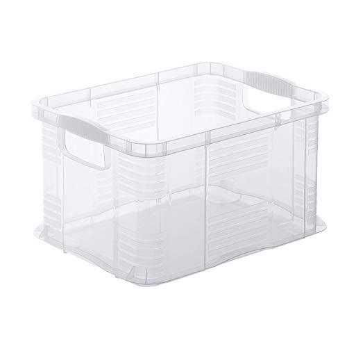 Rotho Agilo Aufbewahrungsbox 6l, Kunststoff (PP) BPA-frei, transparent, A5/6l (29,0 x 19,0 x 15,5 cm)