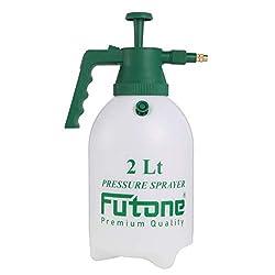 small Futone 0.5 gallon handheld garden sprayer with water pump pressure sprayer for lawns and gardens –…