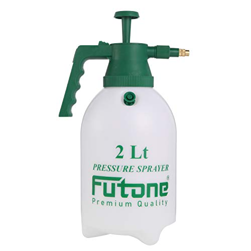 small Futone 0.5 gallon handheld garden sprayer with water pump pressure sprayer for lawns and gardens –…