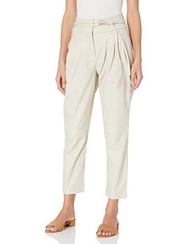 [BLANKNYC] Women's Vegan Leather Pants, 18W, Beige