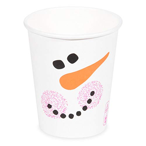Juego de vasos de cartón para bebidas calientes y frías, 200 ml, 280 ml, 80 mm de diámetro, 150 unidades