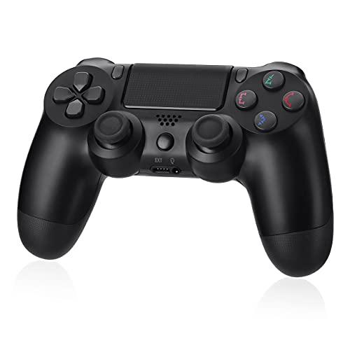 PS4 コントローラー PS4 PRO SLIM対応 PC対応 充電ケーブル 付き 700mAh大容量 遅延なし 二重振動 重力感応 ジャイロセンサー機能 イヤホンジャック タッチパッド 高耐久ボタン 「2021最新」PS3 コントローラーブラック