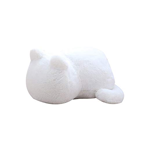 forme de chat Peluche blanc 30 cm Homeofying Coussin de canap/é en peluche douce