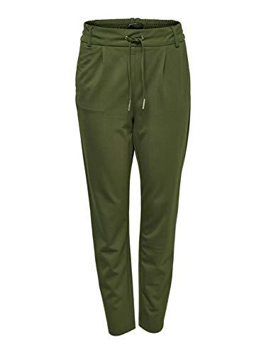 ONLY Damen Hose - OnlPoptrash Easy Color Jogginghose, Farbe:Dunkelgrün, Damenjeans Test:S - Länge 32