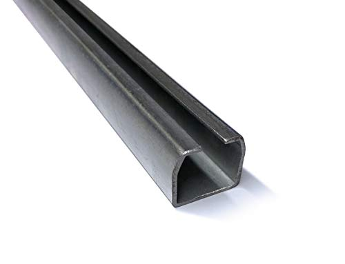 Schiebetorbeschläge Schiebetür Laufrohrsystem Laufschiene Hallentor Profil 100 (Laufschiene 100cm)