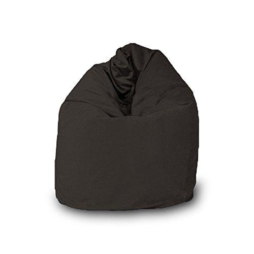 Pouf Bean Bag en forme de goutte déhoussable en velours L 70 x 110 cm gris