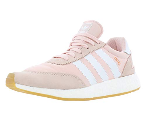 adidas Womens Iniki Runner Low Top Lace Up Walking, ICY Pink/White/Gum, Size 9.5
