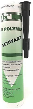Ber-Fix® Ms Polymer Karosserie Kleber Schwarz dauerelastische Dichtmasse wasserdicht für den Aussenbereich bei Wohnwagen Auto Fenster Haus Pool Boot
