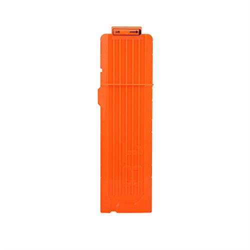 Yosoo Health Gear Clip de Bala de Espuma, 18 Dart EVA Nerf Gun Dart Clip Plastic Gun Toy Cartridge Holder Clip de Recarga rápida Universal para Juegos de Pistola de Juguete(Naranja)
