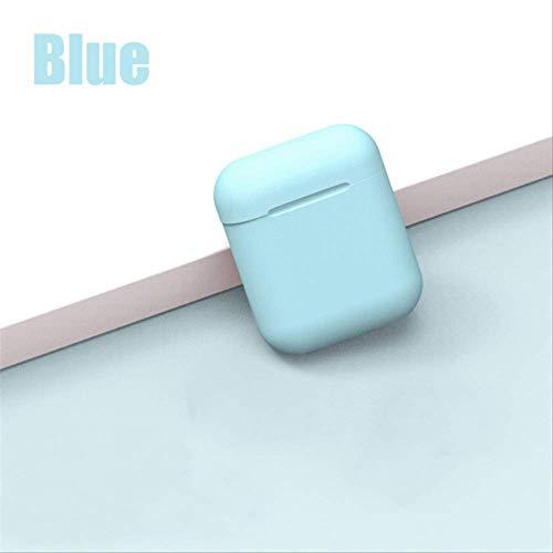 Chunjiao Bluetooth inalámbrico de auriculares Alta Definición calidad de sonido de la música de los auriculares con la carga de la caja for Xiaomi Nota 6 7 8 Pro como se muestra maca12-Blue Audífonos