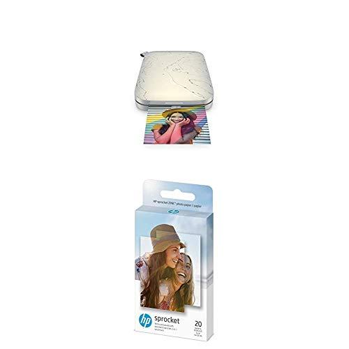 HP Sprocket Select - Impresora de Foto Zink, Sin Tinta, 321 x 600 dpi, 10 Hojas, LED, Bluetooth + 1AH01A Papel