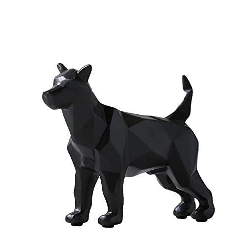 BBZZ Figuras de jardín, Estatua Ornamento Esculturas y Estatuas Origami Escultura Artesanía Regalo Creativo Simple Perro Adornos Arte Decoración del Hogar