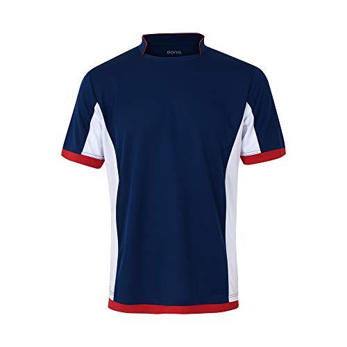 Eono Essentials - Camiseta de fútbol transpirable para hombre, talla L