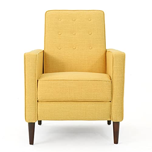 Mason Mid-Century Modern Tuft Back Recliner (Qty of 1, Fabric/Muted...