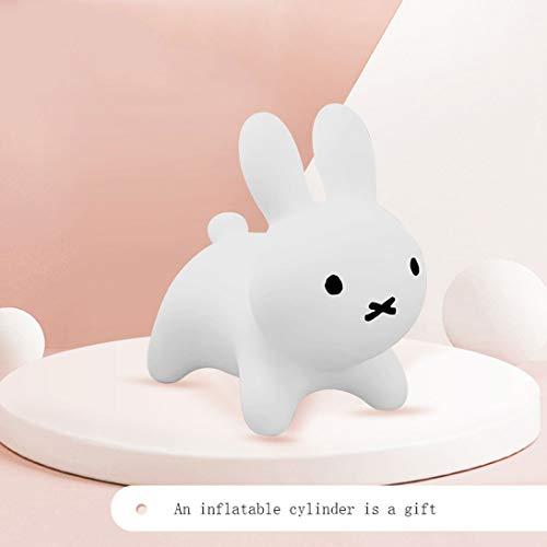HLQTY Kaninchen-Voltigier-Pferdeaufblasbare Kaninchen-Kinder können die interessanten Spielwaren reiten, weiß