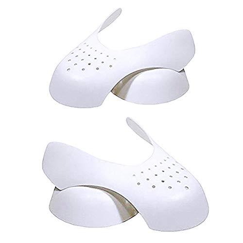 nuoshen 2 Paar Schuhschild, Schuhspanner aus Kunststoff Anti-Falten Schuhe Schutz Schuhe Schilde Gegen Schuhfalten für Herren und Damen