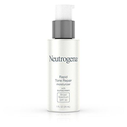 Neutrogena Rapid Tone Repair Face Moisturizer with Retinol SA, Vitamin C, Hyaluronic Acid and SPF 30 Sunscreen, Tone-Evening & Brightening Retinol Facial Moisturizer Cream, 1 fl. oz