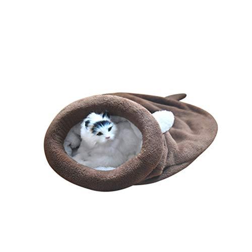 Urisgo Slaapzak, voor katten, Essentials, zacht, warm, wasbaar, bedkatjes, winddicht, tas, Kuddly deken, tapijt, opvouwbaar, zacht, voor huisdieren