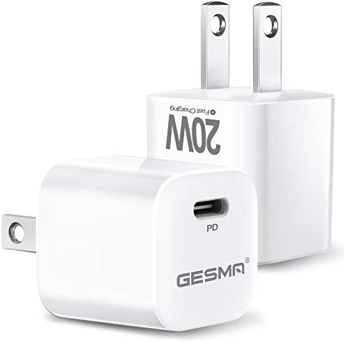2 Packs USB C Charger 20W Type C Charger Mini USB C Wall Charger PD Power Fast Compatible with product image
